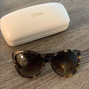 Chloe 59mm Cat Eye Tortoise Shell Sunglasses